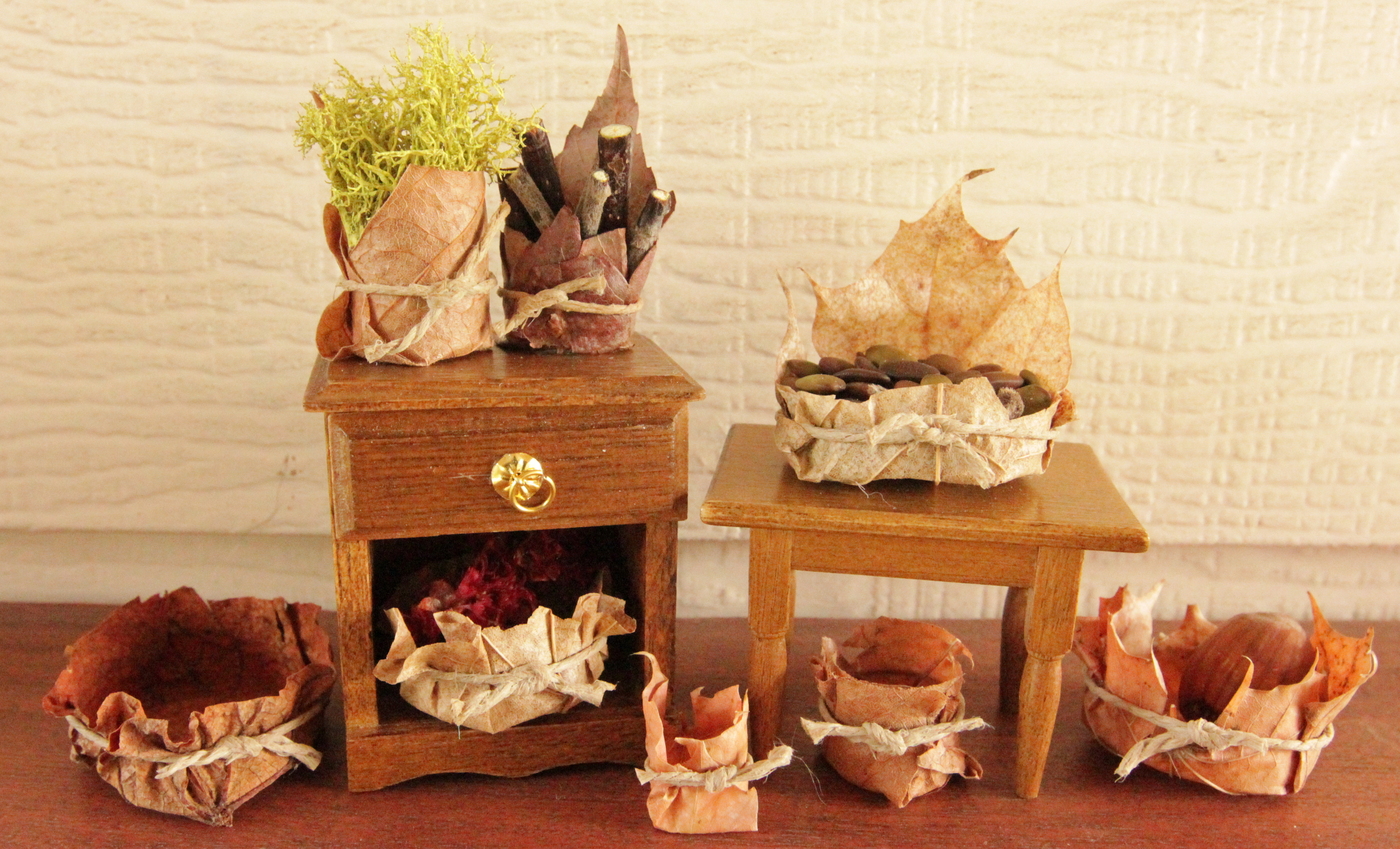 Fairy Basket Tutorial Miniature From Beneath The Ferns #miniature # Fairyhouse #fairygarden #beneaththeferns