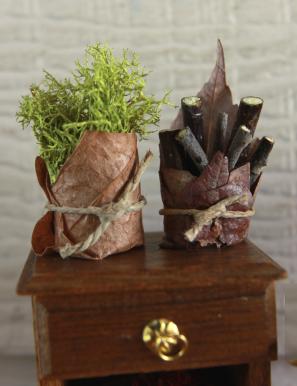 Fairy basket tutorial miniature from beneath the ferns #miniature #fairyhouse #fairygarden #beneaththeferns 13