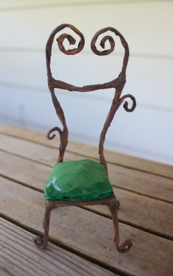 fairy chair miniature faerie furniture tutorial