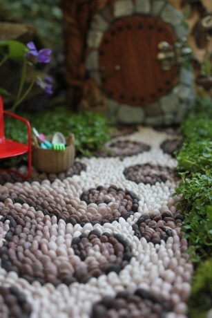 Fairy garden path mosaic fairy house fairy garden beneath the ferns #beneaththeferns #fairygarden 2