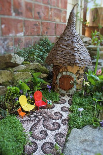 Fairy house fairy garden miniatures at beneaththeferns.w... #Fairyhouse #fairygarden #miniature #beneaththeferns 8