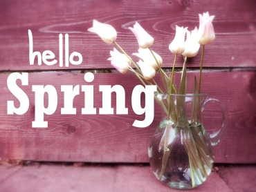 Spring quote with tulips #hellospring #Springquote