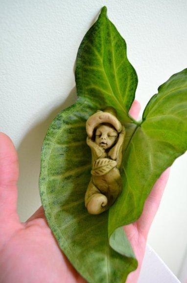 Fairy garden baby miniature figurine by Garnetteh