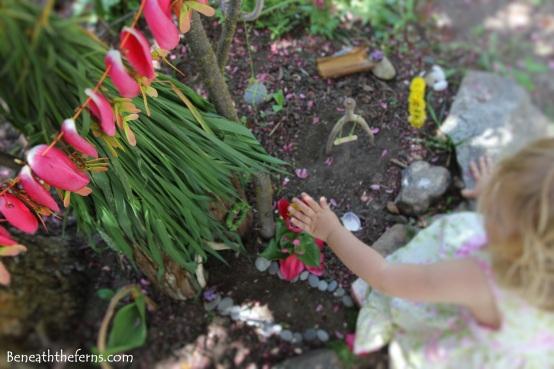 Fairy house toddler nature craft garden miniature