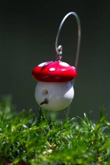 Fairy garden supply accessory mushroom bird house