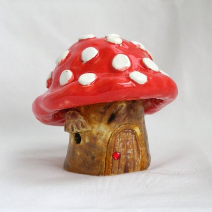 Fairy garden supplies mushroom by The Edgewater Shop