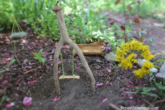 Fairy furniture swing garden miniature