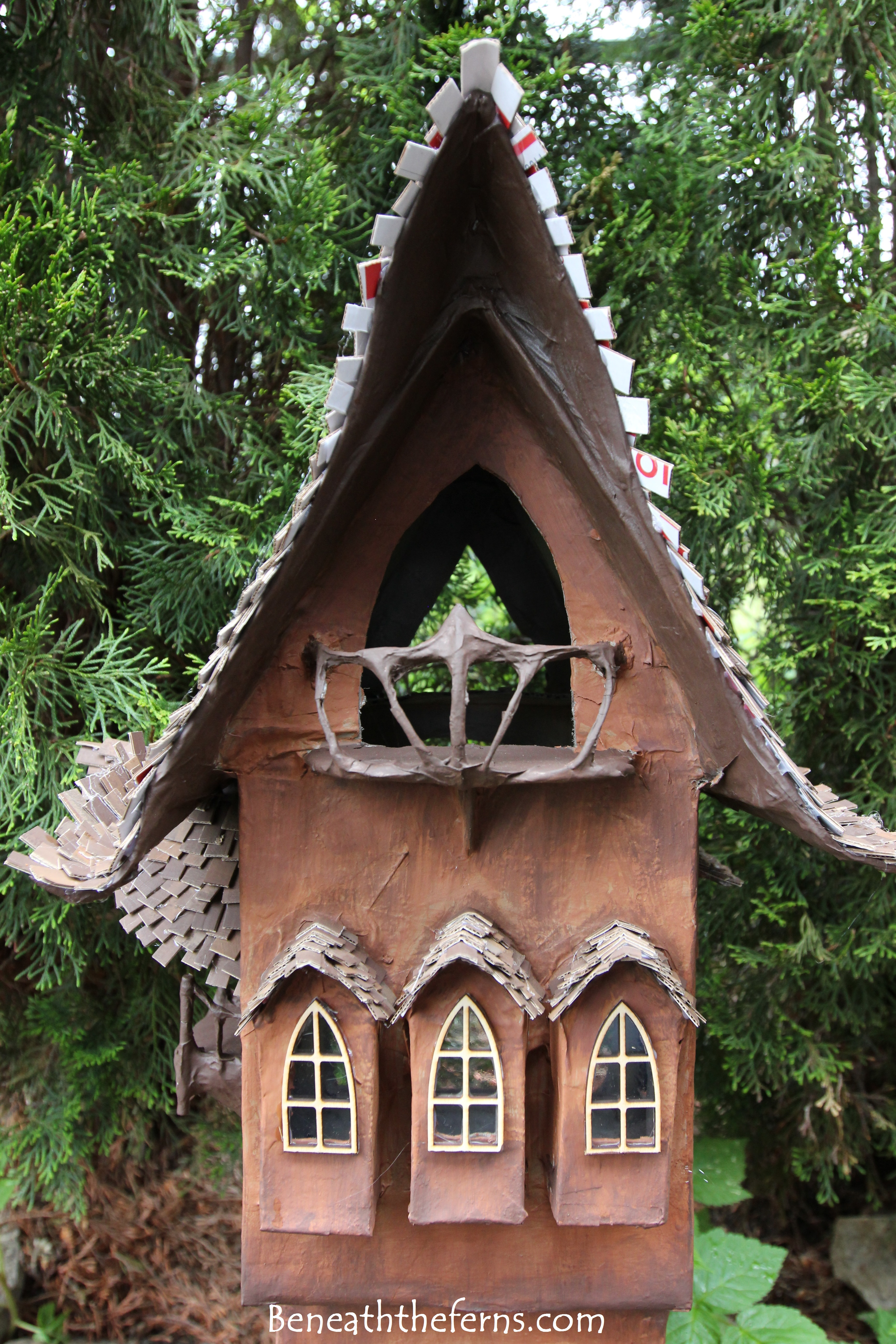 Fairy Gardens House Miniature Scale Tower By Beneath The Ferns Close Up  Front