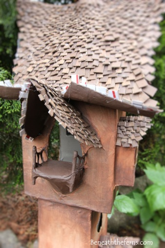 Fairy gardens house miniature scale tower by beneath the ferns four