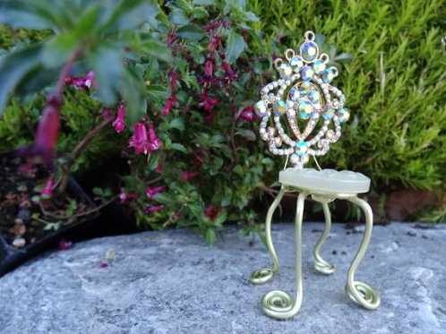 Fairy gardens supplies miniature chair by Fairy Fountain Minis