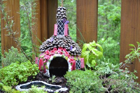 Fairy house miniature garden accessory by Smoky Mountain Follies