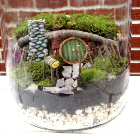 Hobbit house fairy gardens supplies by Mossy Pocketss