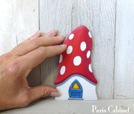 Mushroom fairy door by Paris Cabinet
