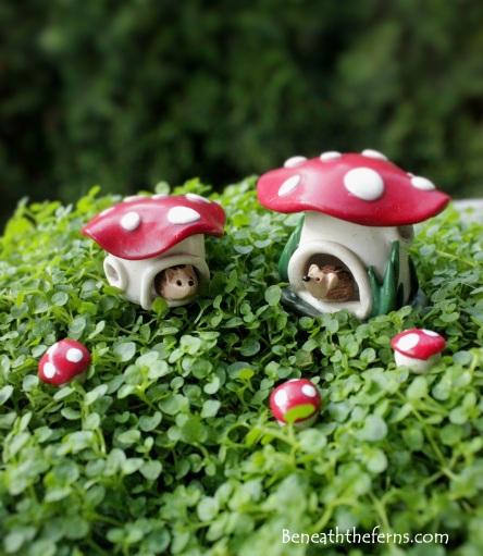 Fairy gardens supplies miniature mushroom hedgehog gnome house