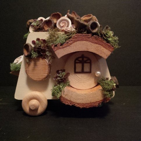 Fairy garden woodland camper by Birch Tree Fairy Houses