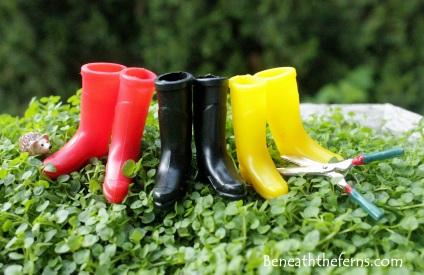 Fairy gardens supplies accessories garden boot hedgehog
