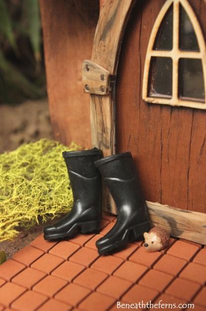 Mini fairy garden boots