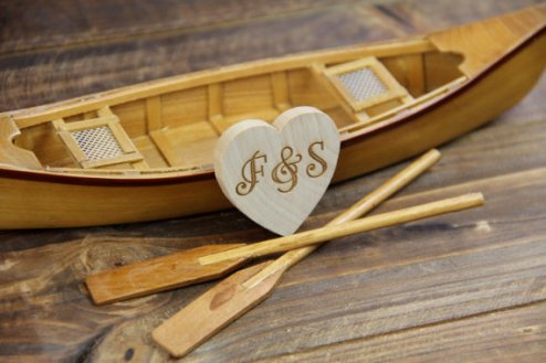 Miniature canoe by Rustic Blend on Etsy