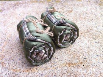 Miniature fairy garden blanket rolls by BitsandpiecesbyPam