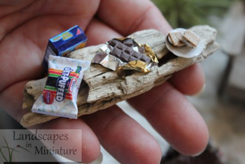 Miniature fairy garden smores by LandscapesNMiniature