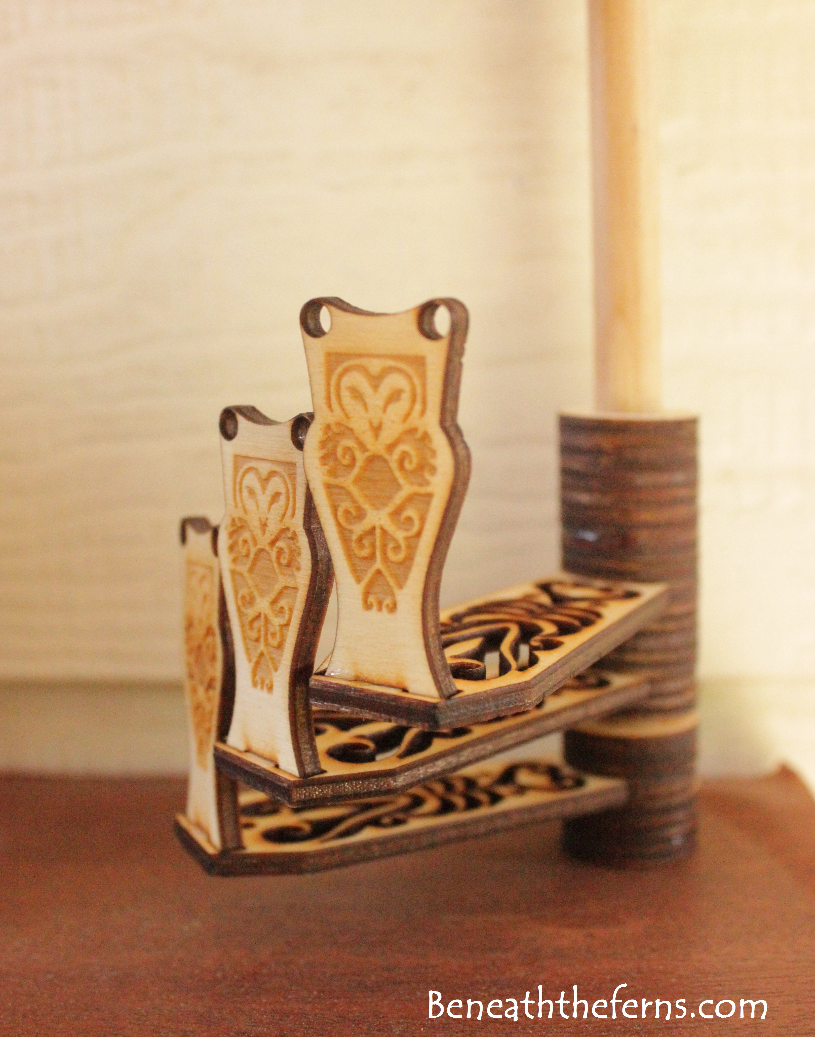 Miniature Owl Spiral Staircase Laser Dollhouse Castle