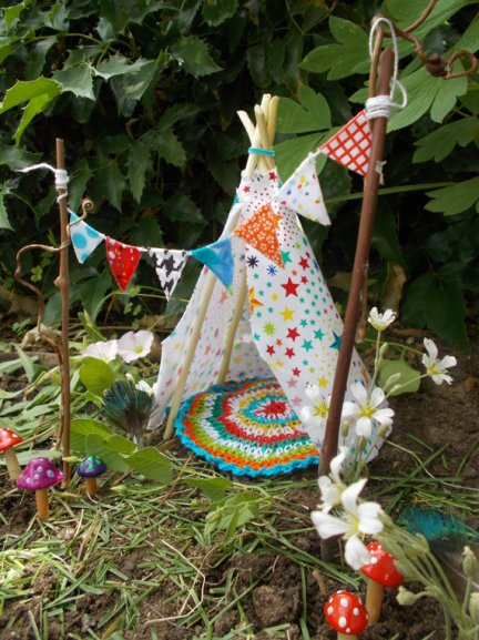 Miniature teepee tent for fairy gardens by FairyElements