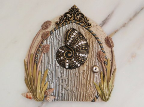 Nautilis shell miniature fairy garden door by MiniWhimsies