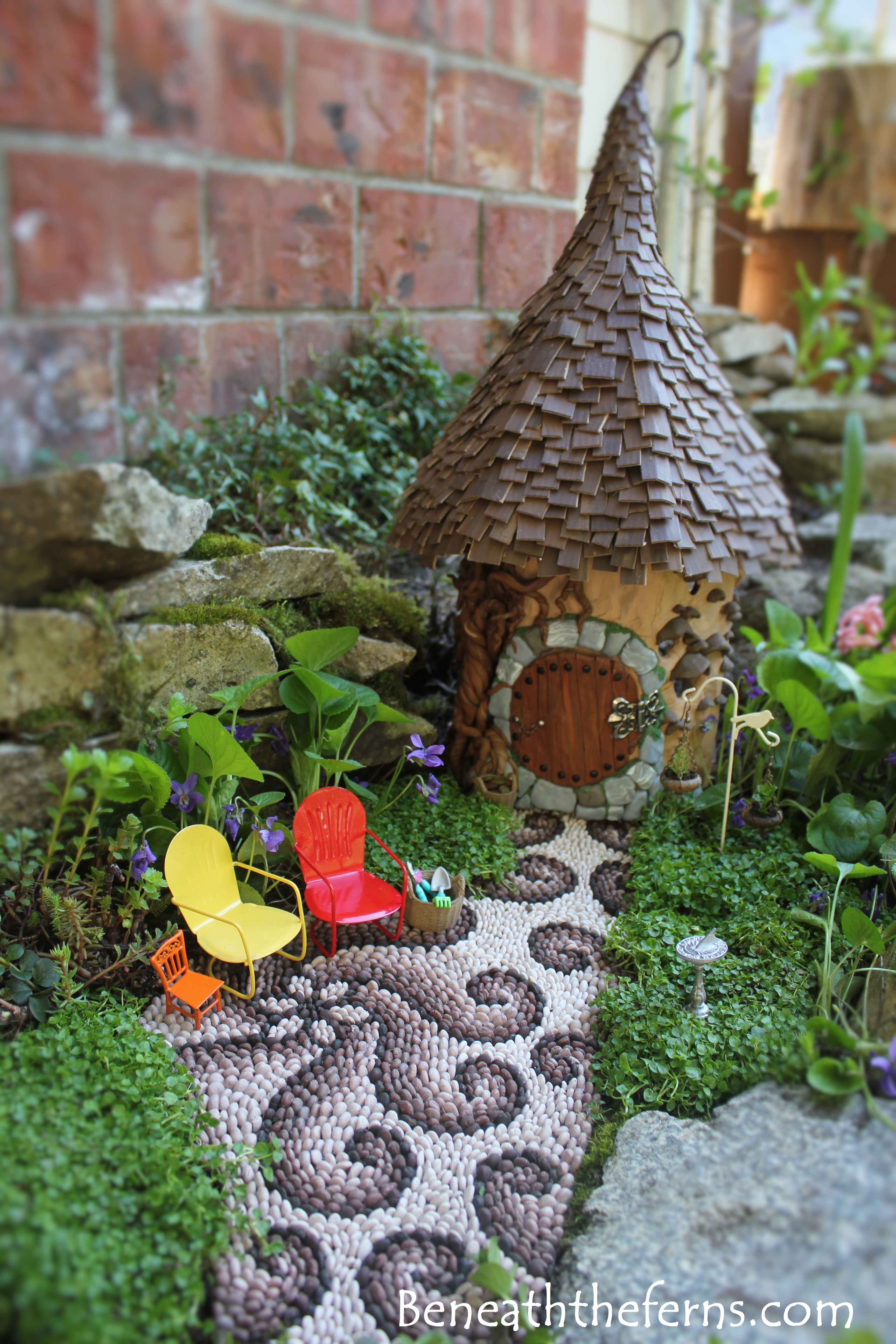 fairy garden supplies Beneath the ferns