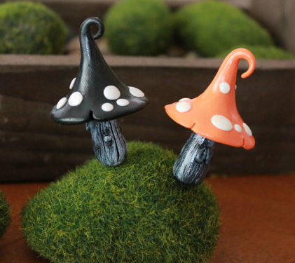 Miniature fairy garden mushrooms by Gnome Woods