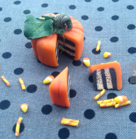 Pumpkin miniature tea set by Steph the fairy maker found on Etsy