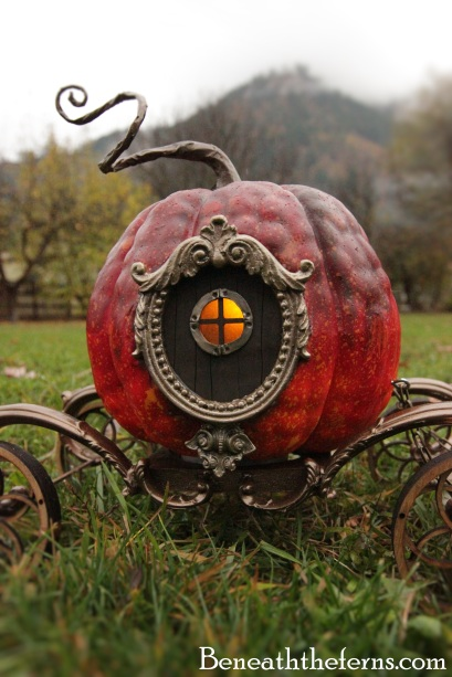 Cinderella pumpkin carriage miniature halloween sculpture by beneaththeferns