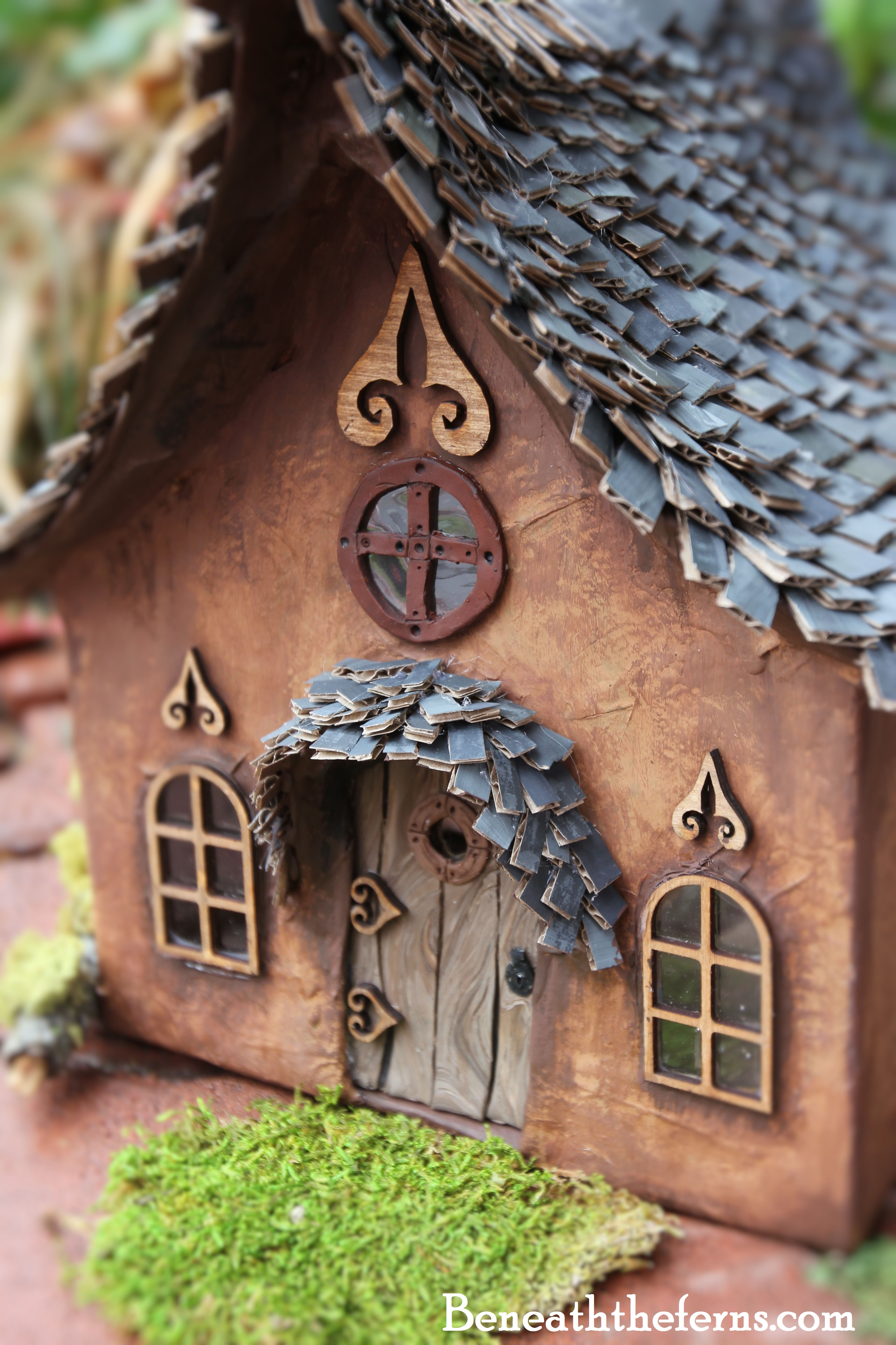 door cottages garden small polymer faerie art fairy dollhouse houses beneath gallery fairygarden fae cottage clay the from house miniature ferns