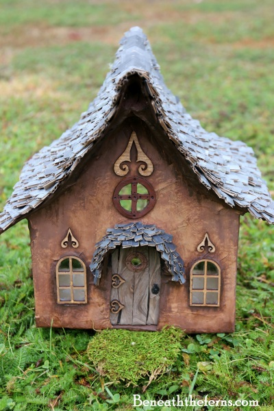 Fairy house fairy gardens miniature elf house by beneath the ferns