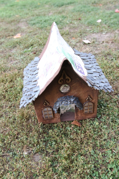 Tutorial miniature fairy house with shake shingles by Beneath the Ferns